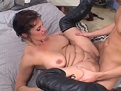 MiLF pussy is ridden hard by a hard cock